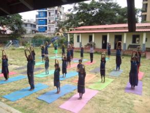 Yoga classes every Saturday