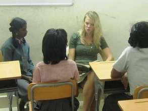 volunteer taking classes