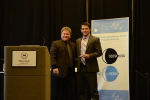 Founder Bob Richards Presenting Scholarship Award