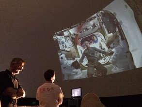 CUSEDS Student Chris Nie speaking w ISS astronauts