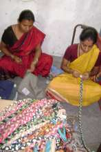 Skipping ropes made out of waste sarees & duppatta