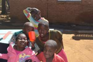 Some kids at orphanage