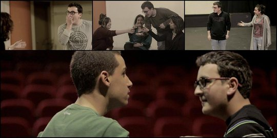 Pierre and Rawad at an acting workshop