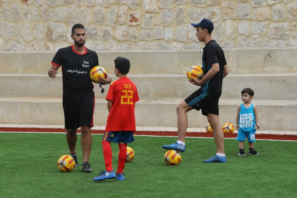 Another great shot of Mahdi and his young trainees