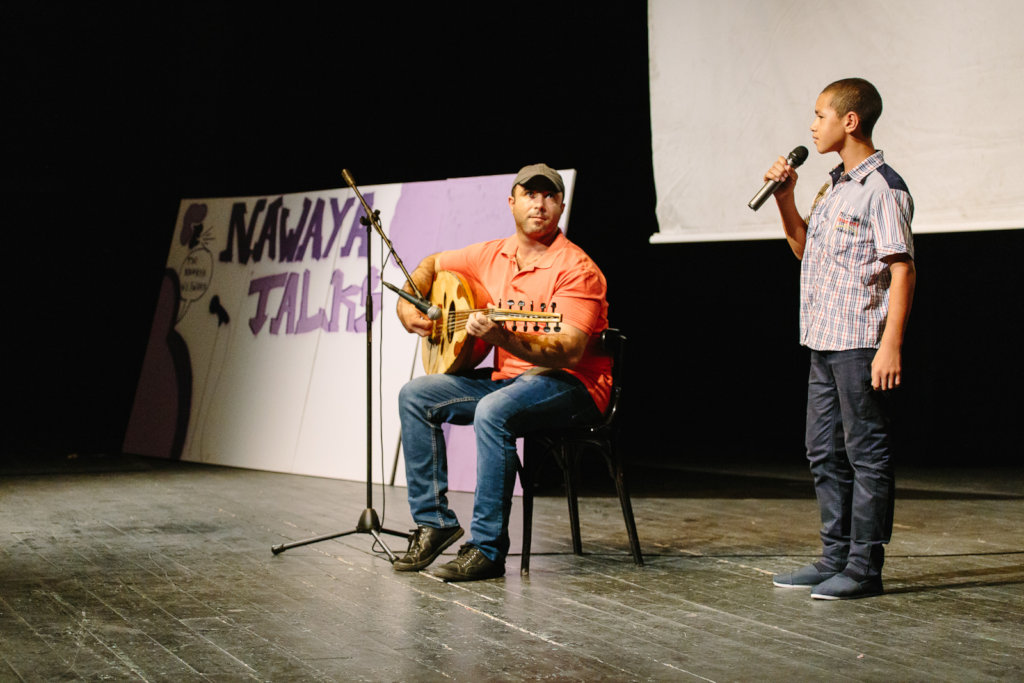 Yasser performs at the Nawaya Talks