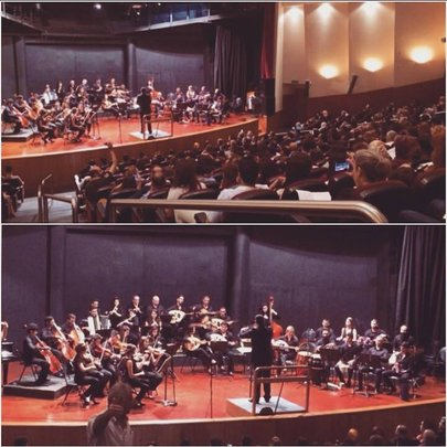 Hovsep playing with the Lebanese Conservatory