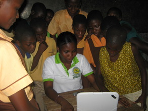 Online at last - pupils learn about the internet.