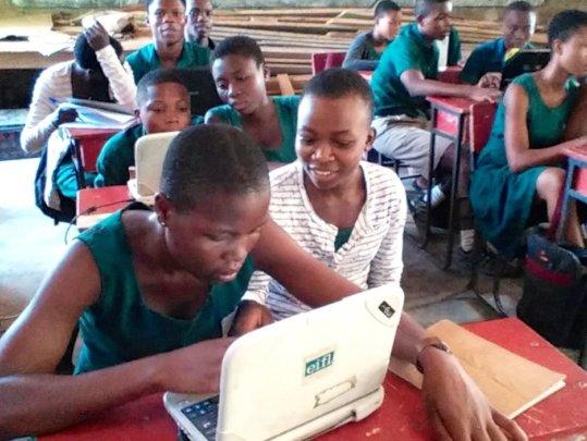 Hands-on computer classes in Volta Region.