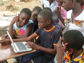 Keen pupils research the internet.