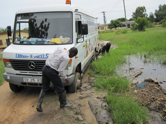 Mud can't stop the Mobile Library Service!