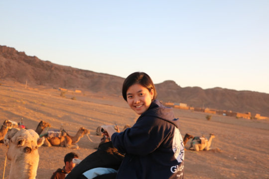 GK Students Ride Camels in Morocco