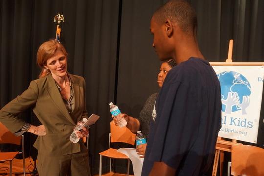 US Ambassador Samantha Power with GK Youth
