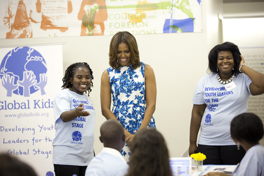 GK Leader welcomes First Lady Michelle Obama