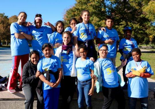 Global Kids Leaders preparing to run the GK5K!