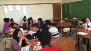 Students hard at work!