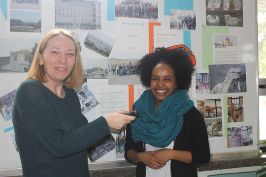 GK Student Samri Hadgu is interviewed in Croatia