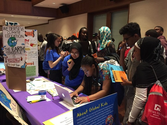 Global Kids Leaders at the Social Justice Expo