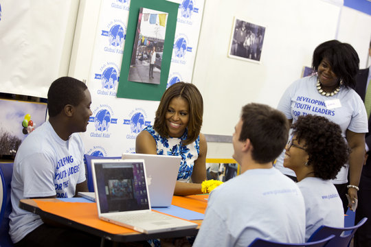 First Lady Michelle Obama visiting with GK Leaders