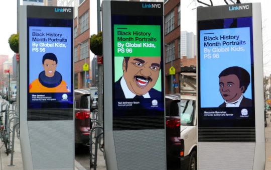 Global Kids artwork featured on LinkNYC kiosks!