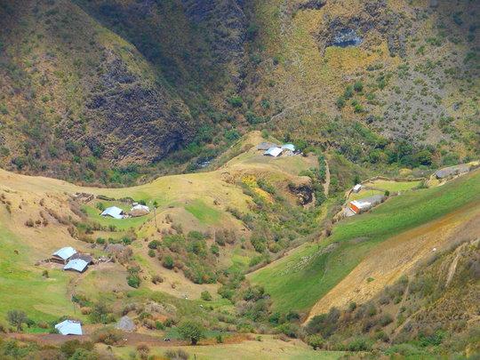 Vista di Chistilan dalla casa.