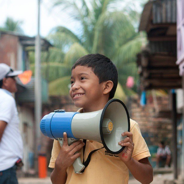 A young boy in one of the neighborhoods
