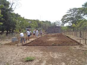 Excavating trenches for classrooms