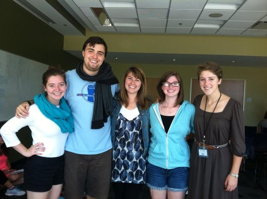 BA trainers with a student from Ramapo College