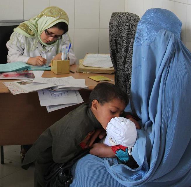 Women receiving health care