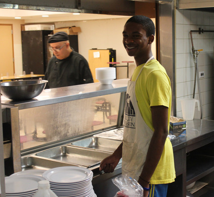 Rajhaun Clarke works for the NYC Rescue Mission.