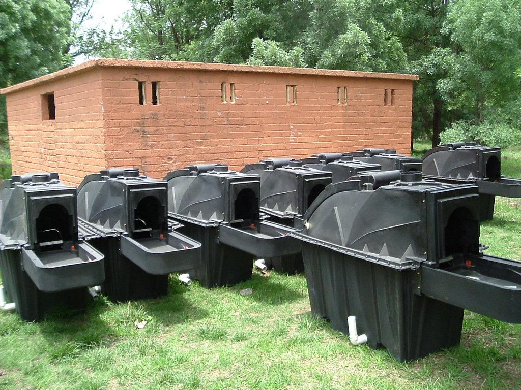 Sanix dry sanitation units arrived on site. Restroom building in
