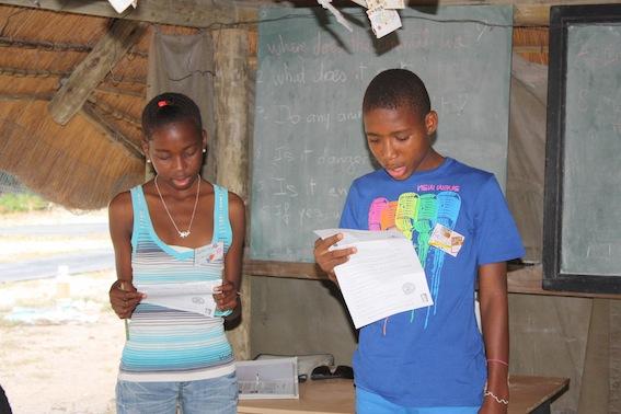 Koketso reading his promises