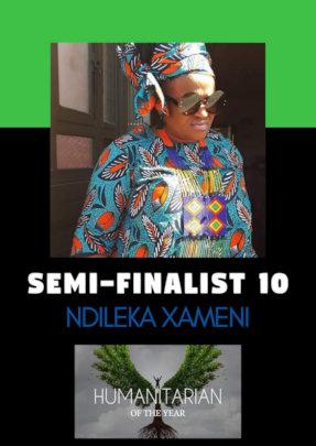 Ndileka nominated for Humanitarian Award