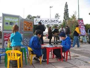 Working with children in a public space