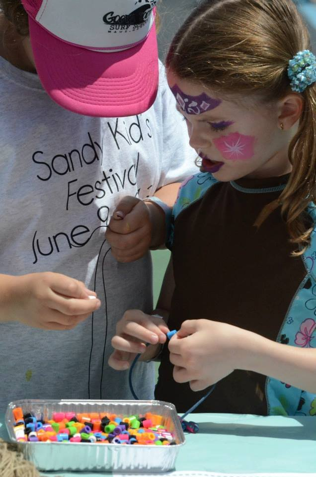Necklace Making at the Festival