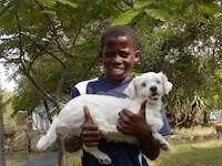 Given and our dog Bouba