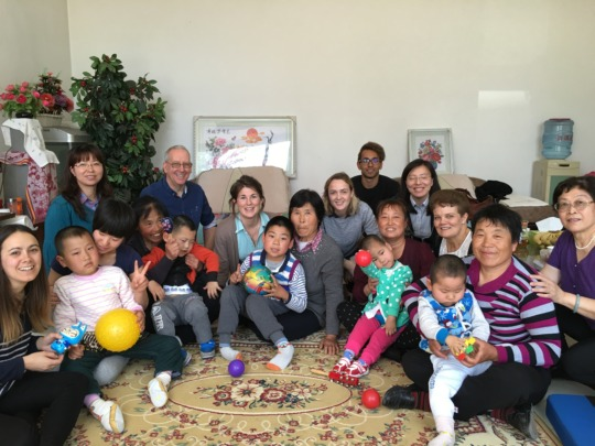 Our team visiting foster families
