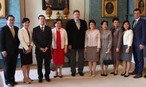 Lunch at the Royal Thai Embassy in London
