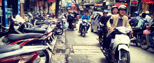The busy streets of Hanoi