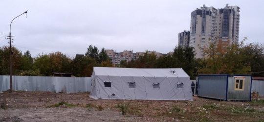 The first heated tent on Vasilievsky island