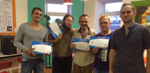 Shelter's residents with education certificates