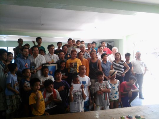 When street children gather officials