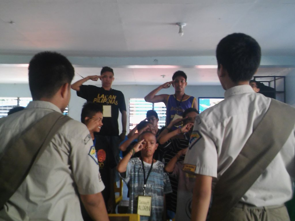Boys scout always ready to serve !