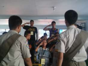 Boys scout always ready to serve !