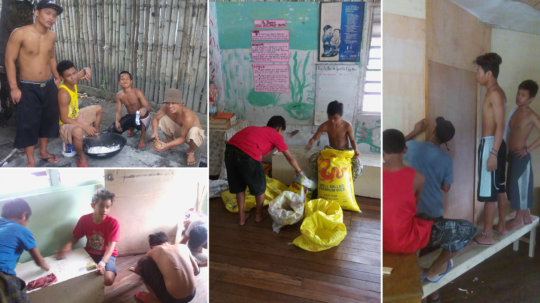 Chores and repairs entrust to the children
