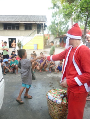 Christmas comes with gift giving and sharing
