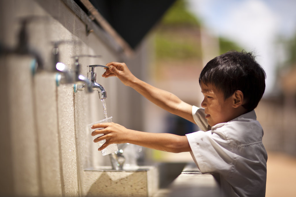 Your giving cleans water for kids in Cambodia