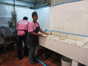 using the water system to wash in training school