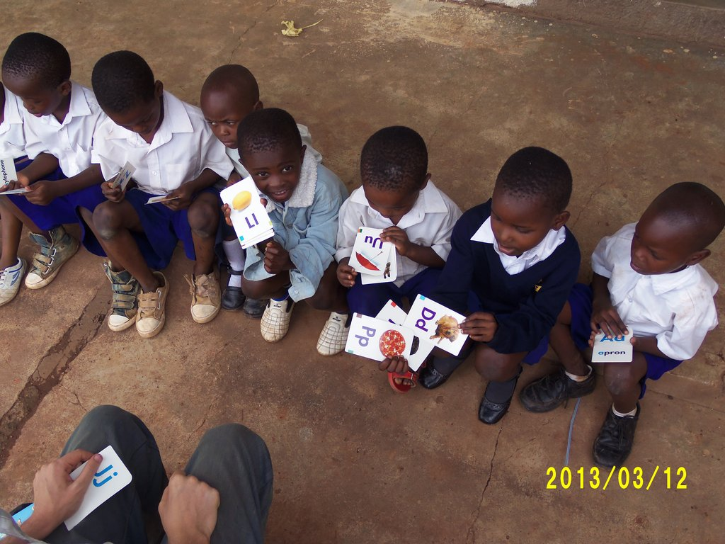 children learning how to read at PPDR