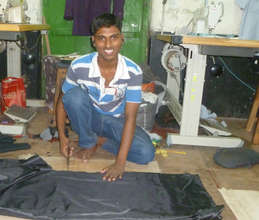 Imran works in a local tailor shop.