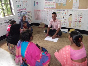 Asad encourages parents of deaf students in class